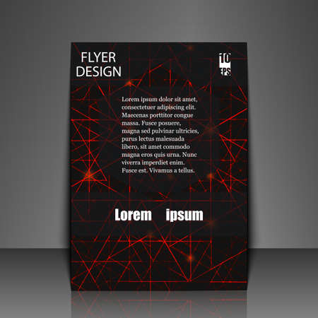 impervious: Template flyer with abstract background. Eps10 Vector illustration
