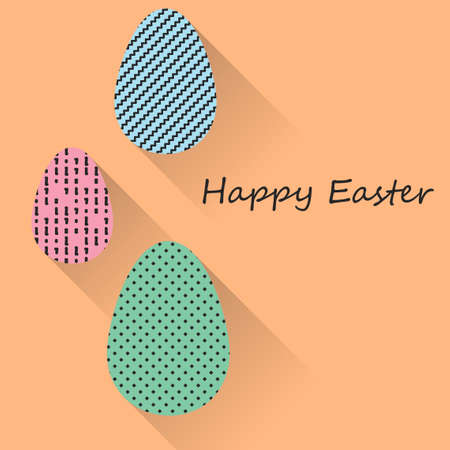 Happy Easter greeting banners. Eps10 Vector illustration