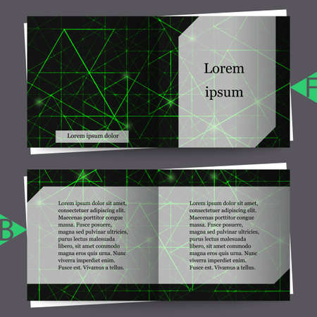 impervious: Brochure template with abstract background. Eps10 Vector illustration