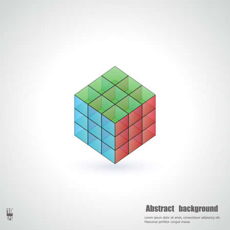 glass reflection: Abstract background with 3d cubes. Eps10 Vector illustration