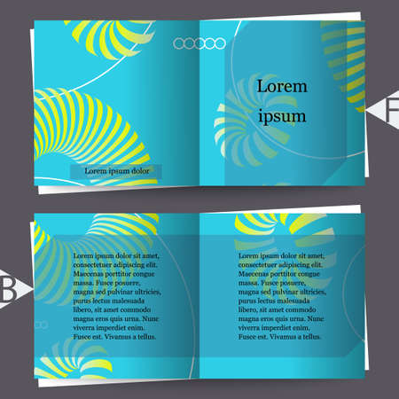 3d abstract colorful shape. Brochure template. Eps10 Vector illustration
