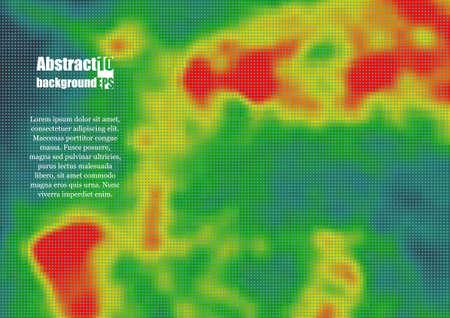 Carte thermique colorée pour la température. Illustration vectorielle Eps10