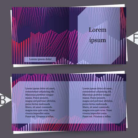 Colorful musical iIllustration. Brochure template. Eps10 Vector illustration Vector Illustratie