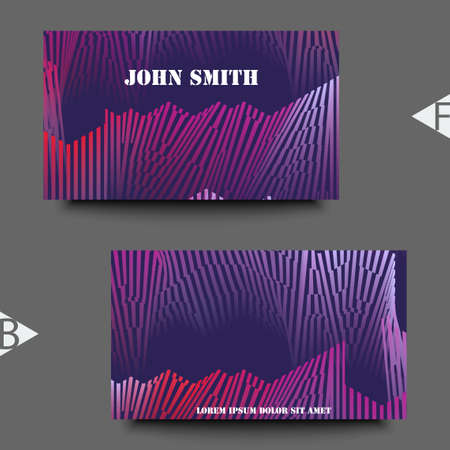 Colorful musical iIllustration. Business card template. Eps10 Vector illustration