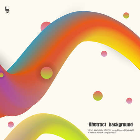 Colorful wave with grunge illustration. Eps10 Vector illustration