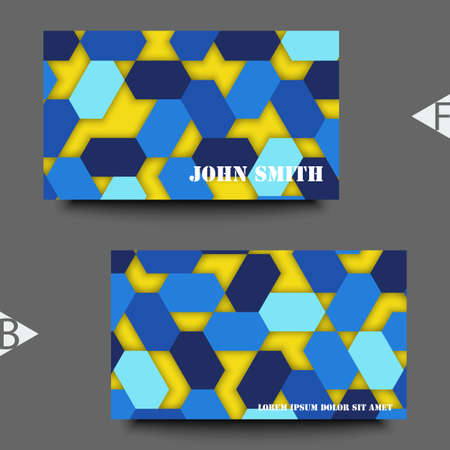 Abstract background with geometric pattern. Business card template. Eps10 Vector illustration