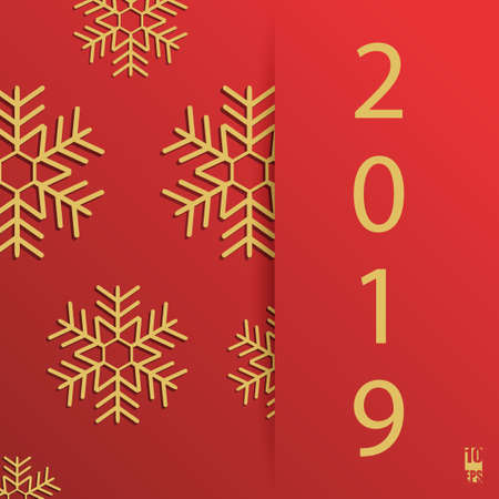 New Year background with geometric pattern. Christmas card. Winter background. Eps10 Vector illustration