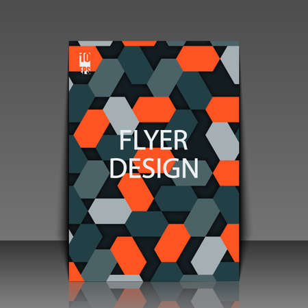 Abstract background with geometric pattern. Flyer template. Eps10 Vector illustration Ilustracja