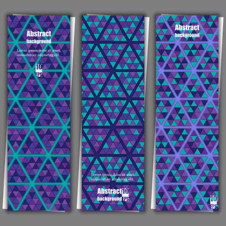 Abstract background with geometric pattern. Banner template.