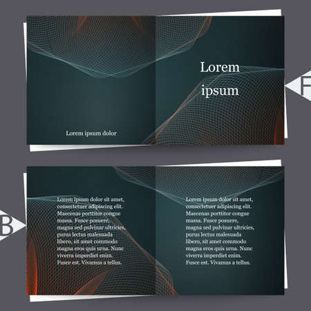 Abstract trendy colors background with blur gradient elements. Brochure template. Ilustracja