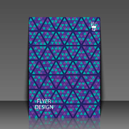 Abstract background with geometric pattern. Flyer template. Ilustracja
