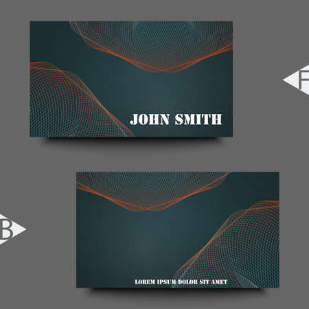 Abstract trendy colors background with blur gradient elements. Business card template.