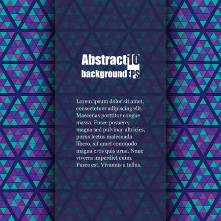 Abstract background with geometric pattern. Brochure template.
