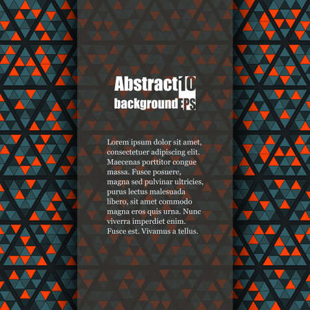 Abstract background with geometric pattern. Brochure template. Eps10 Vector illustration