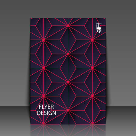 Graphic illustration. Abstract background with geometric pattern. Flyer template. Vector illustration