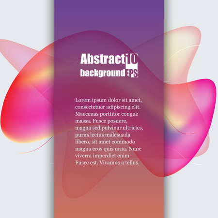 Colorful geometric background design. Fluid shapes composition with trendy gradients. Brochure template. Eps10 Vector illustration