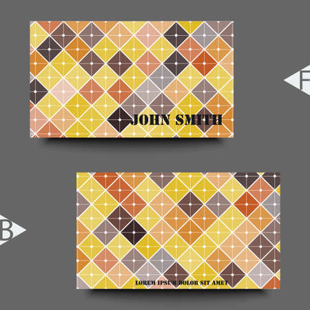 Abstract background with geometric pattern. Business card template.
