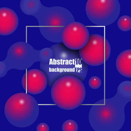 Abstract background with 3d molecules or atoms. Science element for design.