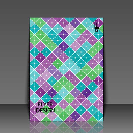 Abstract background with geometric pattern. Flyer template. Eps10 Vector illustration 일러스트