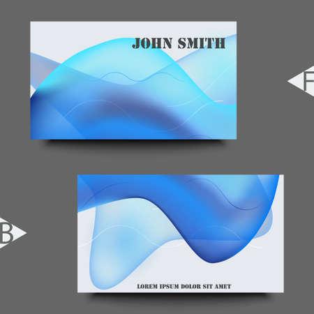 Diseño de fondo geométrico colorido. Composición de formas fluidas con degradados de moda. Plantilla de tarjeta de visita. Ilustración vectorial Eps10