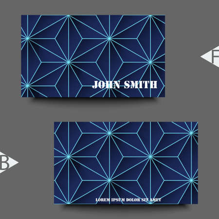 Graphic illustration. Abstract background with geometric pattern. Business card template. Eps10 Vector illustration