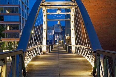 hdr: Hamburg Speicherstadt bridge in HDR