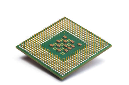 CPU Processor chip on white isolated