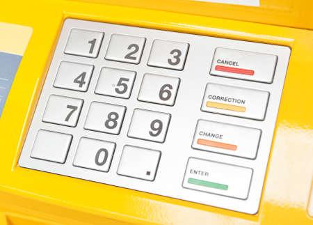 ATM のキーパッド