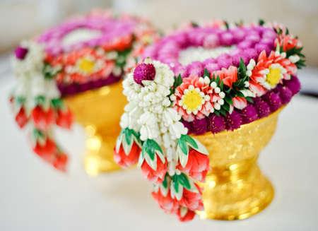 Thai flower garland for Thai wedding ceremony