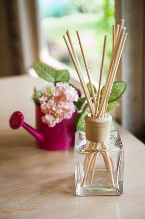 Aromatherapy essential oil bottles Stock Photo - 17640889