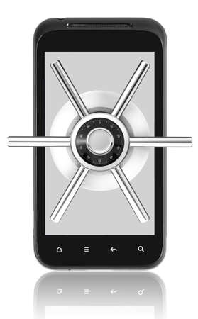 Smart phone with security lock photo