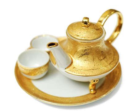 Gold teapot 版權商用圖片