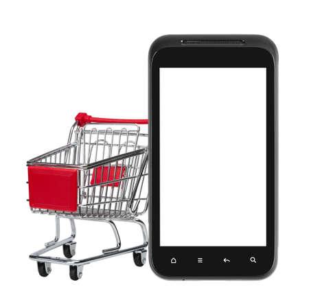 Online shopping blank screen Stock Photo - 17638371