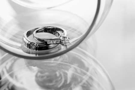 Wedding rings with diamonds on rings
