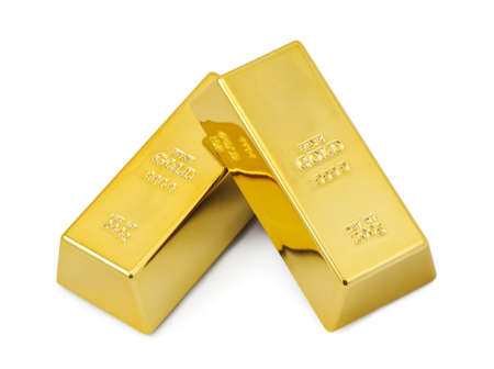 gold metal: Two gold bars
