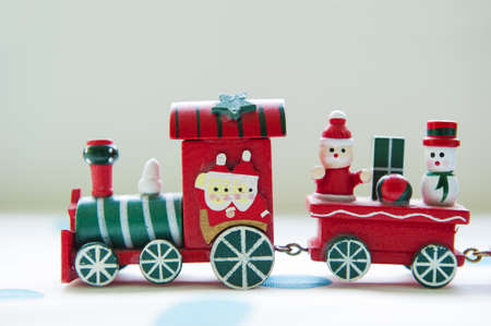 A toy train delivery christmas gift box photo