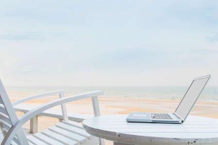 telecommuting: Mobile office Stock Photo