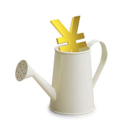 watering pot: Yen investment in watering pot
