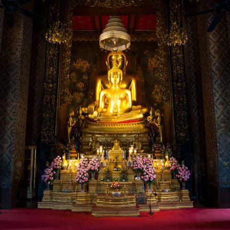 wat bowon: Golden buddha at Wat Bowon Niwet