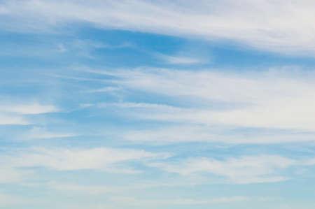 Wispy cloud sky photo