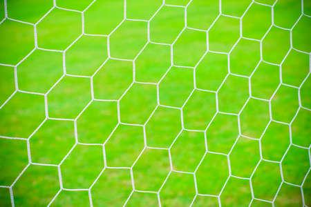 Football soccer goal net background