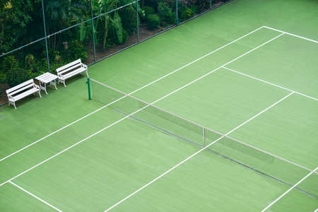 outdoor pursuit: Tennis court