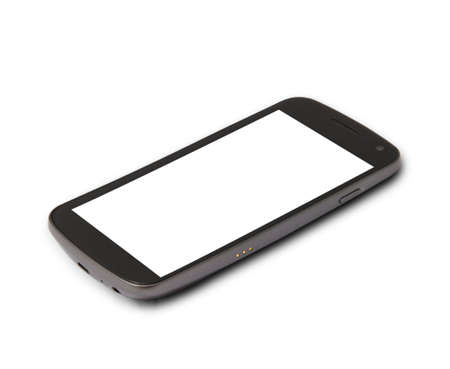 blank screen: Mobile phone with blank screen