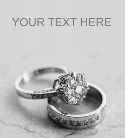 silver wedding anniversary: Wedding rings set