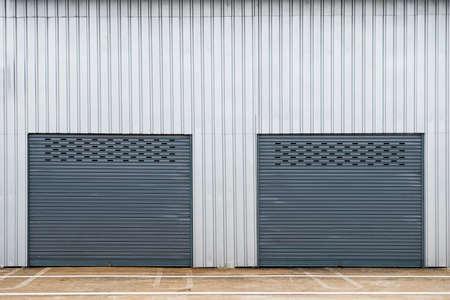 empty warehouse: Storage unit Stock Photo