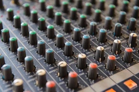 Part sound board mixer Stock Photo