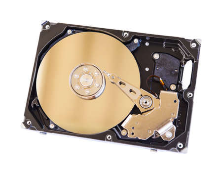 hard disk drive: Inside of a computer hard disk drive