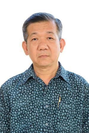 korean ethnicity: Studio portrait of a senior asian businessman Stock Photo