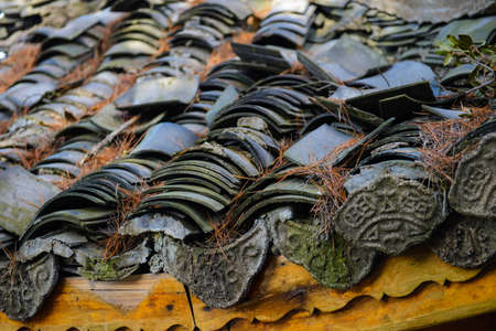 Traditional Chinese roof tiles photo