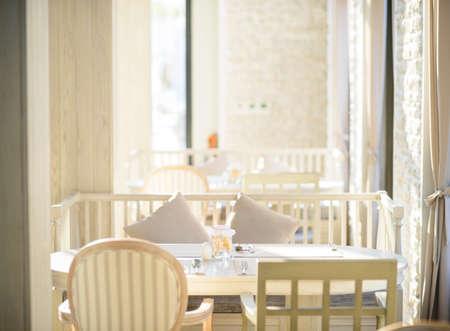 Beautiful interior of restaurant photo